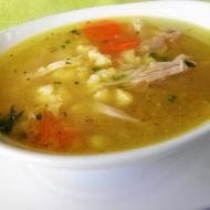 Kuřecí polévka s krupicovou zavářkou recept