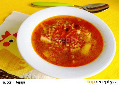 Polévka z pohanky a fazolí recept