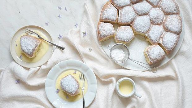 Makové buchty s vanilkovou omáčkou