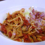 Špagety s rajčaty a hlívou královskou recept