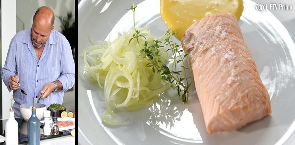 Pošírovaný losos s citronovou majonézou podle Zdeňka Pohlreicha ...
