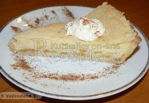 Jablečný koláč s mléčným krémem