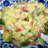 Brambory zapečené s brokolicí a sýrovou omáčkou recept