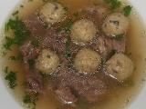 Hovězí polévka s houbovými knedlíčky recept