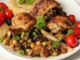 Kuře z pánve s cizrnou a žampiony recept