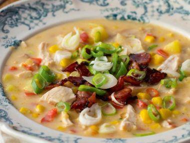 Krémová kuřecí polévka s kukuřicí