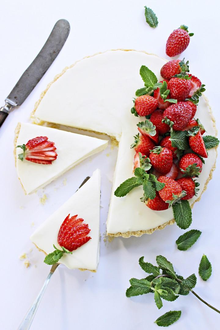 Krémový koláč z bílé čokolády a mascarpone recept