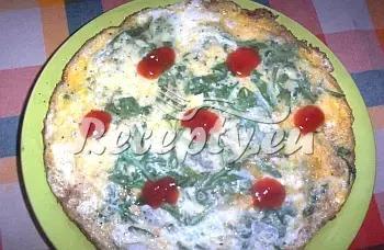 Vaječná omeleta s rukolou recept  recepty pro děti