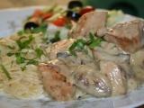 Česnekové kuře se žampiony a smetanovo-vinnou omáčkou recept ...