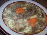 Houbovo-nudlová Vánoční polévka recept