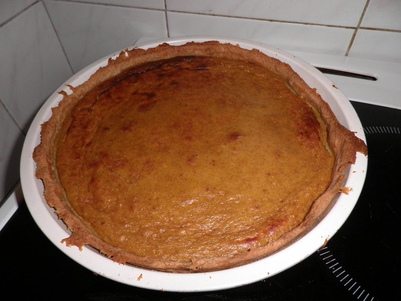 Dýňový koláč (pumpkin pie) s jablky recept