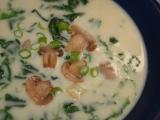 Špenátová polévka se žampiony II. recept