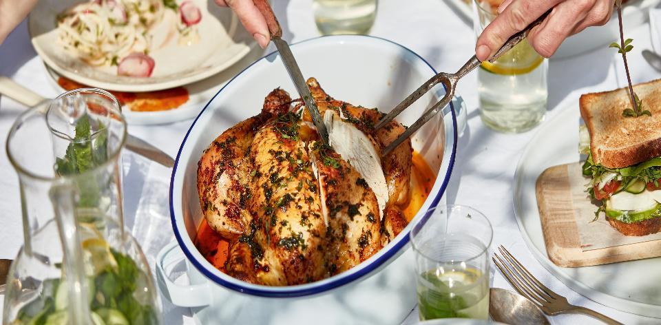 Pečené kuře s bylinkami