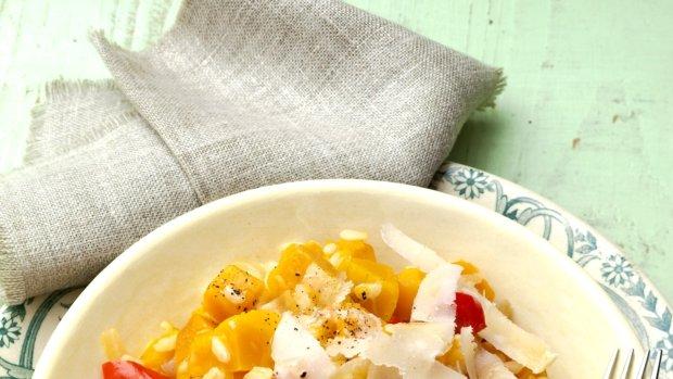 Paprikové risotto s dýní