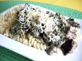 Těstoviny se špenátem a houbami recept