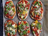 Letní lilkové pizzy se zeleninou recept