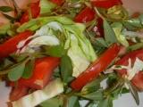 Salát z mladého zelí, šruchy a rajčat recept