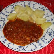 Hovězí s česnekem v tomatové omáčce recept