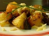 Brambory opečené s houbami a sýrem recept