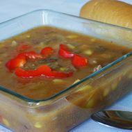 Gulášová polévka s kukuřici recept