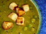 Hrášková polévka s bazalkou recept