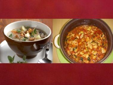 Oběd 99  Houbová bramboračka a Oravské těstoviny
