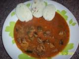 Guláš z kuřecích žaludků recept