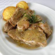 Hovězí kostky s hořčicovo-koprovou omáčkou recept
