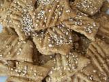 Slané sezamové sušenky recept