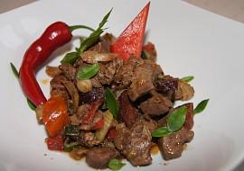 Drůbeží játra se zeleninou – pikantní recept