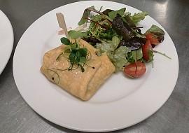 Plněná omeleta s vůní kokosu (na slano) recept