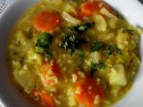 Zeleninová hustá jarní polévka s rýží a kurkumou recept ...