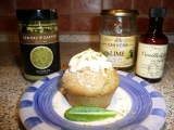 Muffiny se zeleným čajem a limetkou recept