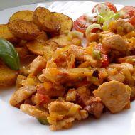 Lehká kuřecí směs se zeleninou recept