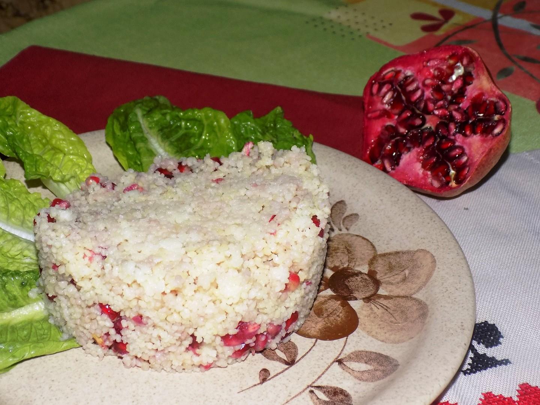 Kuskus s granátovým jablkem recept