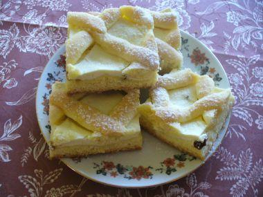 Tvarohový mřížkový koláč ze Slovenska