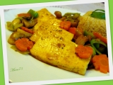 Tofu plátky se žampiony a zázvorem recept