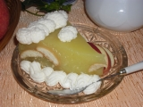Jablečný dort s piškoty, nepečený recept