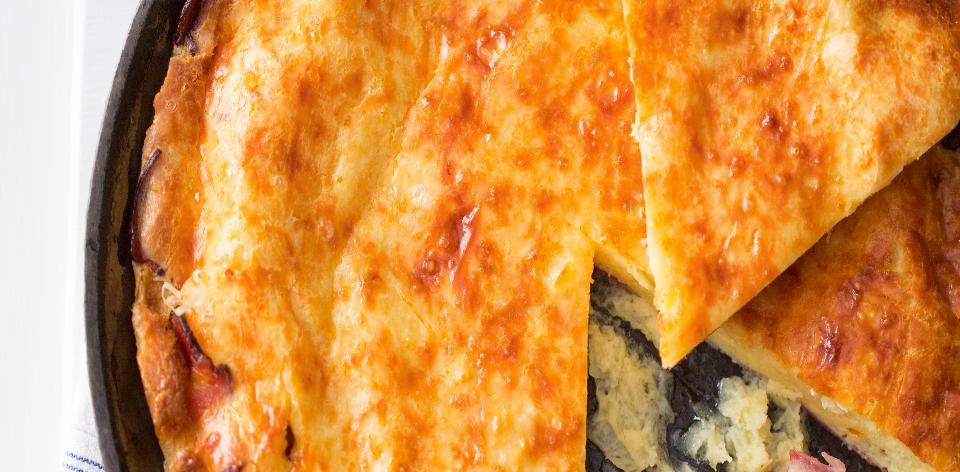 Vaječná omeleta pečená v troubě