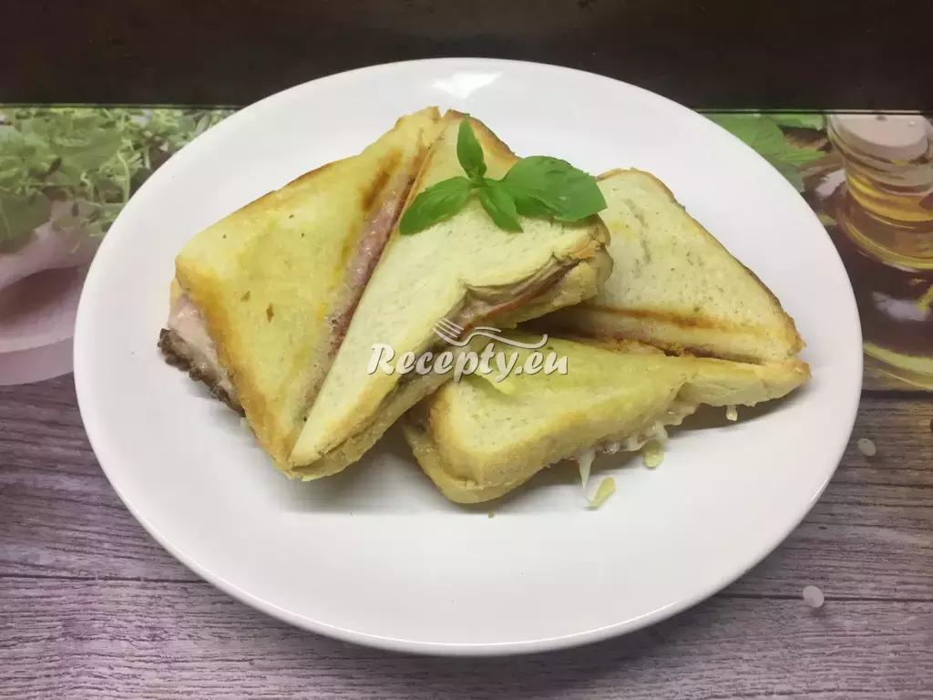 Zapečené tousty s liškami recept  topinky, toasty, sendviče ...