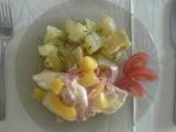 Kuřecí maso s broskví a sýrem recept