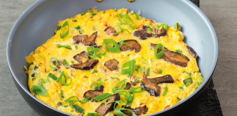 Vaječná omeleta s hříbky