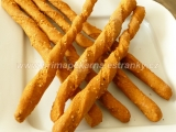 Žížalky (celozrnné paprikové tyčky se sezamem) recept ...