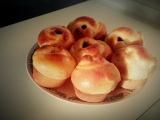 Kynuté muffinové růže recept