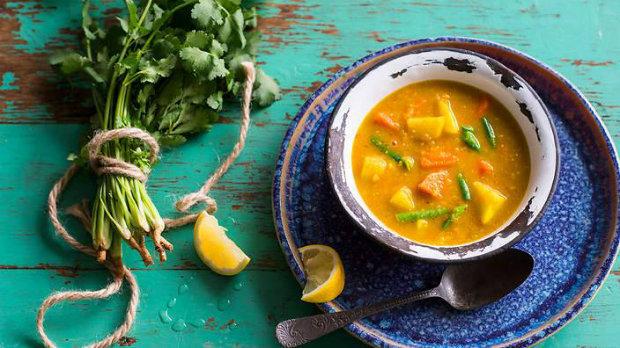 Kolumbijská zeleninová polévka