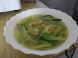 Cuketová polévka se sušenými krevetami recept