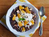 Ovesná čokoládovo-pomerančová kaše s ořechy recept ...