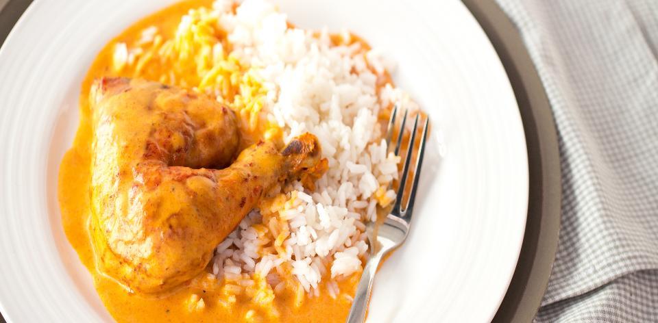 Kuře na paprice s rýží