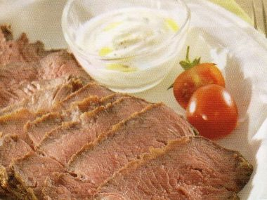 Rostbíf z Rib eye steak s dipem