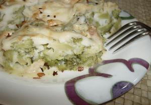 Kuřecí maso s brokolicí a bešamelem z olivového oleje